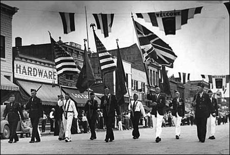 1940 Labor Day Parade in International Falls.
