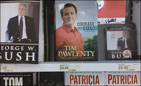 """""""Courage to Stand"""" is on the shelf next to former President Bush's memoir at the West St. Paul Target store."""