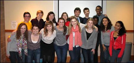 Members of the 2011-12 Blake School Justice League