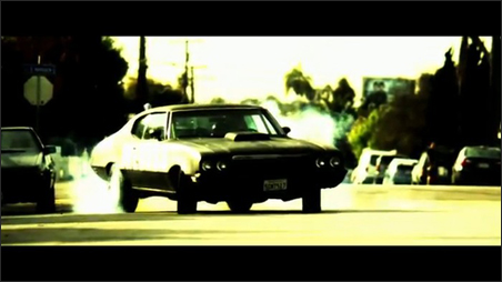 """Mother Medusa, the souped-up, fire-spitting muscle car from """"Bellflower"""""""