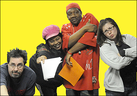 Housed and Homeless cast, from left to right: Herb Brown, Marcya Copher, Marvin Howard and Lindsey Hensel.