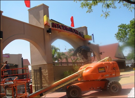 Workers this week put the finishing touches on the State Fair's newly rebuilt International Bazaar.