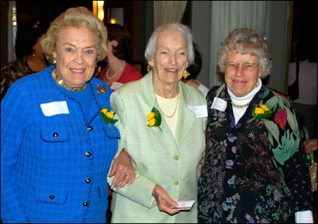 Left to right, Sally Pillsbury ('46), Helen Kramer ('34) and Molly Woehrlin ('53)