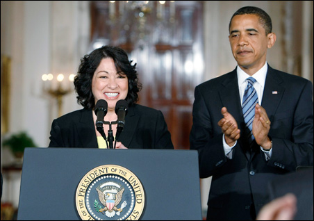 U.S. Appeals Court Judge Sonia Sotomayor, President Barack Obama