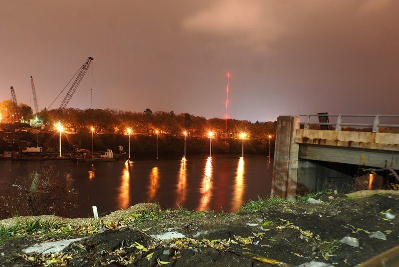 The remains of the highway 23 DeSoto bridge in St. Cloud/Photo by Alissa Haupt