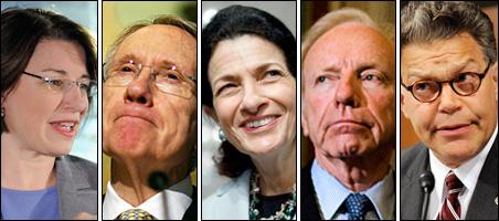 Sens. Klobuchar, Reid, Snowe, Lieberman and Franken