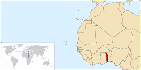 Togo is a small country in West Africa.