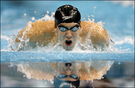 Michael Phelps, swimming's biggest name, won the men's 400-meter Individual Medley Sunday, setting a world record at the Olympic trials in Omaha.
