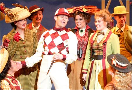 "Sean Martin Hingston as the jockey in ""Yankee Doodle."""