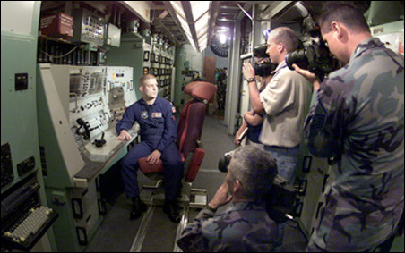 Capt. Rich Nameth describes the operation of Oscar-Zero, the  final missile launch control facility of the Minuteman III deterrent system in northeast North Dakota. The site has been inactive since 1997.