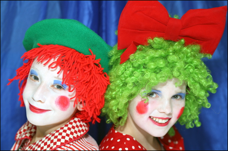 """Aidan Sponheim as Jack and Berit Bassinger as Jill in the Youth Performance Company's """"Babes in Toyland."""""""