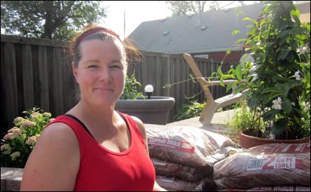 "Colleen Brady, in her Northeast Minneapolis yard: ""Your job and your responsibility and your obligation to this family is to keep your [stuff] together. You have no business crying, or getting [emotionally involved]. You have a job to do."""