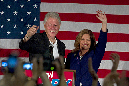 Former President Bill Clinton joined Tarryl Clark on the campaign trail in 2010.