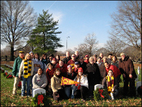 The Minnesota group laid about 50 wreathes in section 13 of the cemetery.