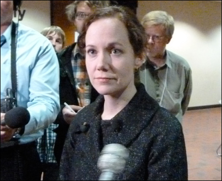Hennepin County Elections Manager Rachel Smith tried to keep recount proceedings moving.