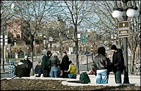 Homeless in St. Paul.