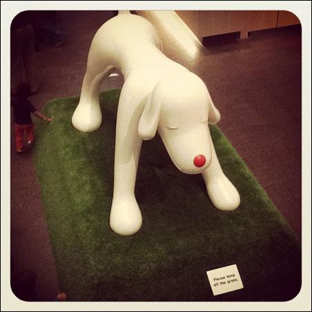 White dog by Yoshitomo Nara