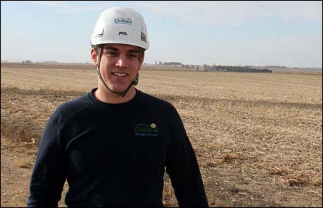 Jordan Bielefeld is a project manager for Outland Energy Services.