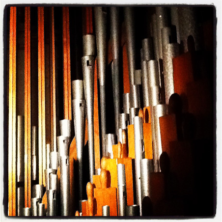 The pipe organ at the James J. Hill house