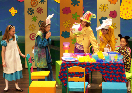 "The Young Artists Initiative's staging of ""Alice in Wonderland."""