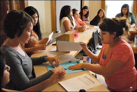 Some of the students at Centro Campesino were born in the United States, but all of their parents are immigrants.