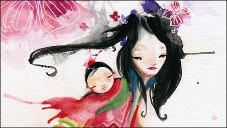"""Kao Lee Thao, """"Ying"""" (from the """"Inner Passion"""" collection), watercolor, 2009."""