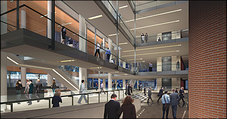 Artist rendering of proposed lobby redesign of Orchestra Hall.