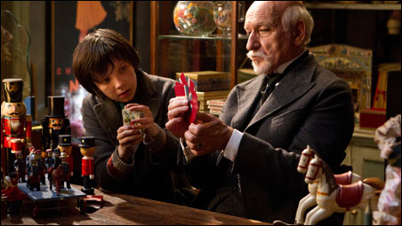 "Asa Butterfield and Ben Kingsley in Martin Scorsese's ""Hugo""."