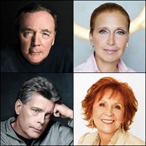 James Patterson, Danielle Steel, Stephen King and Janet Evanovich