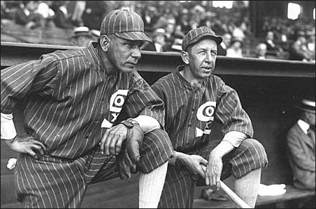"Charles Albert ""Chief"" Bender, left, shown in 1925, during his last season"