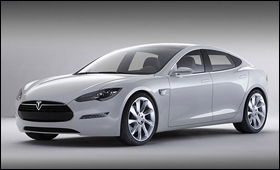 The all-electricTesla Model S