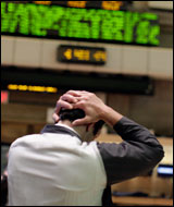 Since July 22, the Dow average has lost 1,297.32 points, or about 10 percent of its value.