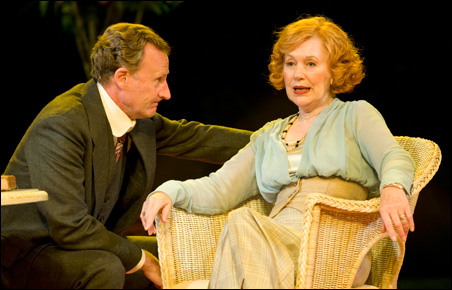 """Daniel Gerroll and Dearbhla Molloy in the Guthrie Theater's production of William Shakespeare's """"Much Ado About Nothing."""""""