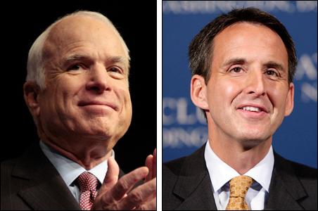 Sen. John McCain and Gov. Tim Pawlenty