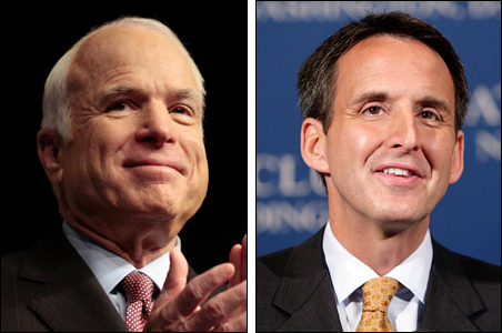 Sen. John McCain and Gov. Tim Pawlenty
