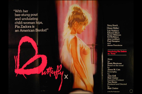 """""""Butterfly,"""" the film that netted Pia Zadora a Golden Globe."""