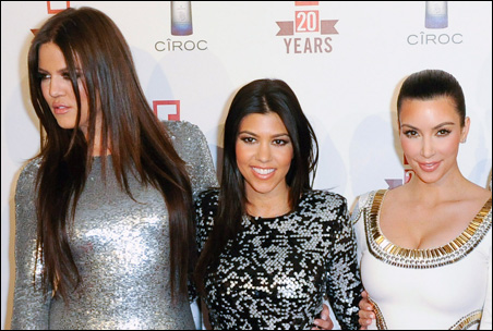 Sisters Khloe, Kourtney and Kim Kardashian, pictured on the red carpet in May of this year.