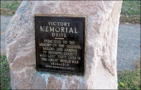 Victory Memorial Drive plaque