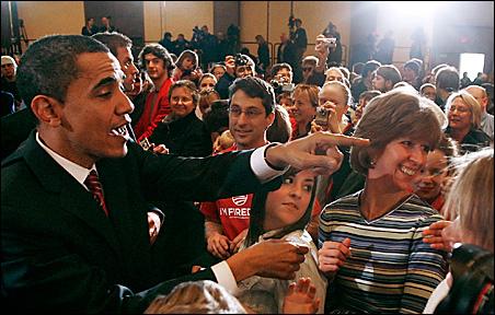 Democratic presidential candidate U.S. Senator Barack Obama