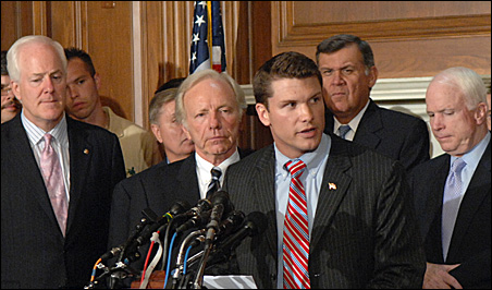 Peter Hegseth with members of Congress