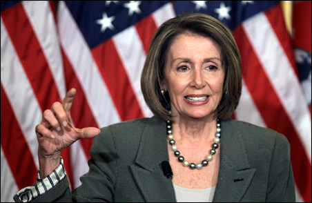 House Speaker Nancy Pelosi speaks about healthcare reform at her weekly news conference on March 4.