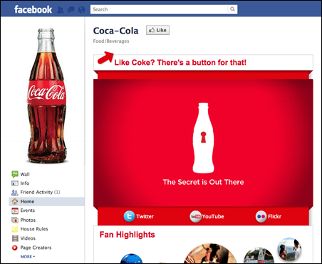 """As of mid-November, Coca-Cola has 35,962,246 """"likers"""" on their Facebook page."""