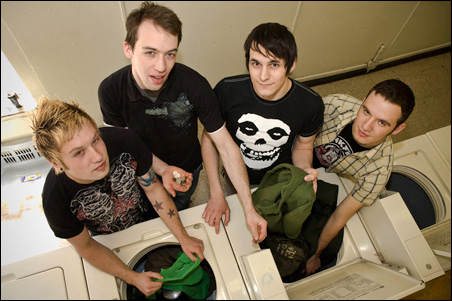 Green Sweater Society, from left: Jeff Blesener (bass, vocals, guitar), Nick Scott (lead guitar), Steve Rhoden (lead vocals, rhythm guitar) and Eli Jivan (drums, vocals).
