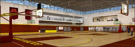 A rendering of the proposed Basketball Development Center.