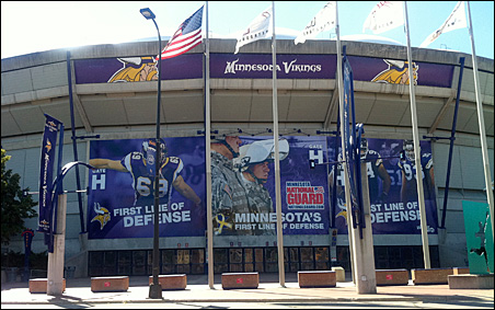 With the preseason home opener next week, fans will be getting their first look at the Dome since the Twins moved.