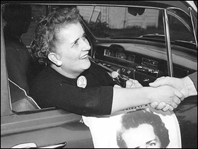 Coya Knutson campaigning, circa 1955