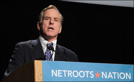 Former Vermont Gov. Howard Dean addressing the convention.