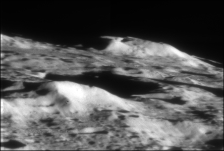 An image of the moon following Friday's impact.