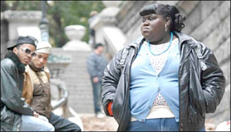 "A scene from the film ""Precious"" starring Gabourey 'Gabby' Sidibe, right."