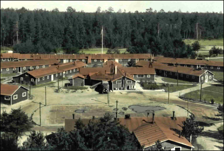 Panorama of a typical conservation camp